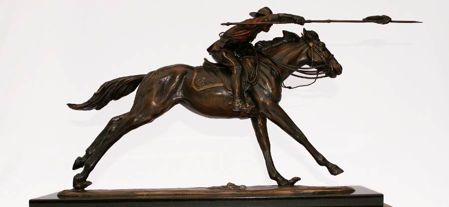 the charge bronze sulpture